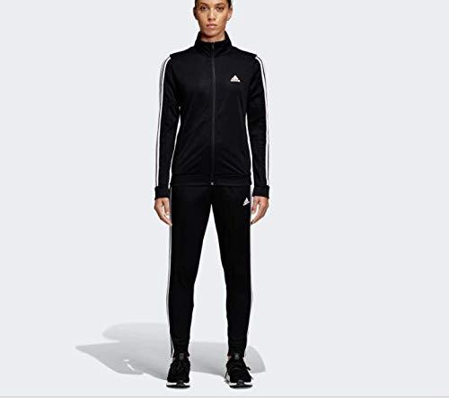 adidas Women TS Team Sports, Suits Donna, Black/White, M 44-46