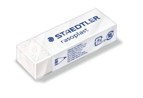 Staedtler 526 B20 Radierer rasoplast phtalat und latexfrei, 65 x 13 x 23 mm, Schachtel, weiß