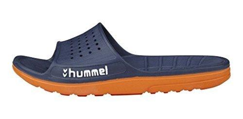 Hummel, Ciabatte da spiaggia donna, Blu (Dress Blue/Flame), 47 EU