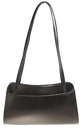 CTM Petit sac pochette pour femmes, 30x18x11cm, 100% en vrai peau italienne.