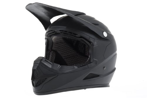 Diamondback - Casco de Motocross Negro Negro Mate Talla:Large