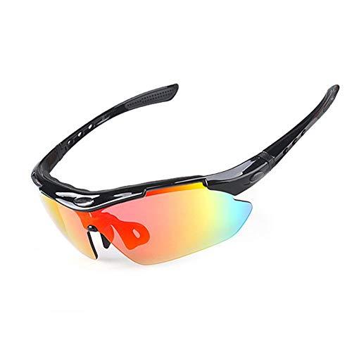 Riding Glasses Polarisiert Sportbrille für Herren und Damen mit 4 Wechselgläsern aus,UV400-Schutz100 UV Protection,Bringing All-Round Care to Your Eyes