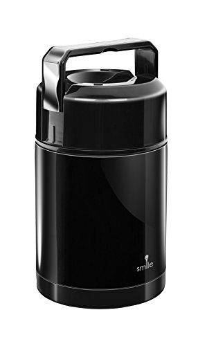 Smile Vakuum Thermobehälter aus Edelstahl, 1L, Warmhaltebox für...
