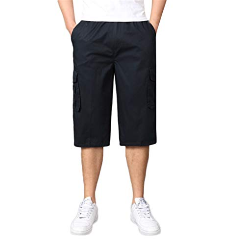Mymyguoe Herren Bermuda Shorts Herren Sommer Kurze Hose Outdoor Casual Einfarbig Freizeithose Kurz Sport Mit Taschen Hose Straight Leg Sweatpants Biker Cargo Shorts ()