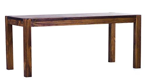 Brasilmöbel® Esstisch 160x80 Rio Kanto - Eiche antik Pinie Massivholz - Größe & Farbe wählbar - Esszimmertisch Küchentisch Holztisch Echtholz - vorgerichtet für Ansteckplatten - Tisch ausziehbar