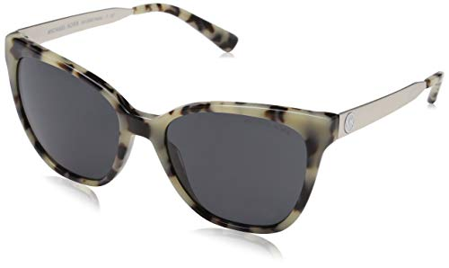 Michael kors napa 331287 55 occhiali da sole, marrone (cream tortoise/grey solid), donna