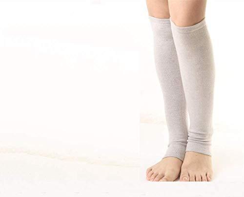 ZYLBDNB Kniebandage, Leggings für Männer und Frauen Gelenke Warme Knieschützer Sport Breathable Nursing Calf Socks, Camel -