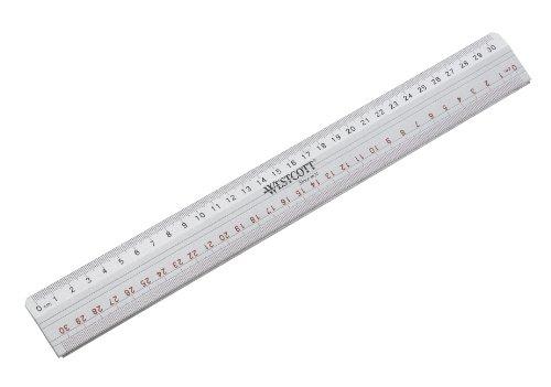Westcott E-10112 00 Righello da taglio con bordo in metallo, 30 cm, argento