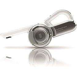 Black & Decker PV1820L-QW Aspirateur à Main sans fil-18 V-Autonomie : 10 Min-Charge complète : 4h-Prolongateur intégré et Brosse rétractable, 440 milliliters, Chrome