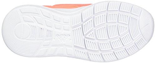 Kappa New York, Sneakers Basses Fille Orange (Coral/white)