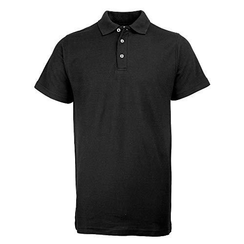 RTY Workwear Herren Polo-Shirt S bis 10XL (Large) (Schwarz)