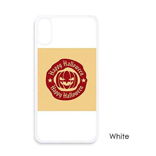 beatChong Rot Runde Muster Halloween-Kürbis für iPhone X-Hüllen Weiß phonecase Apple-Abdeckungs-Fall-Geschenk