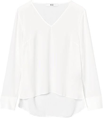FIND Damen Bluse mit V-Ausschnitt Weiß (Ivory), 36 (Herstellergröße: Small)