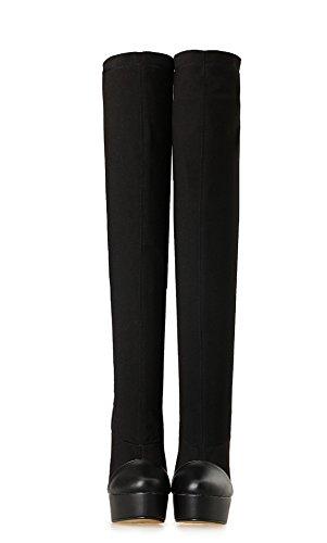 HeiSiMei Frauen High-heeled Stiefel / Stilettfersen / Over-the-Knie Stiefel / Dicke untere wasserdichte Plattform / Office & Karriere / Party & Abend / Hochzeit / Kleid / Super High Heel / Männer / Un 1-46