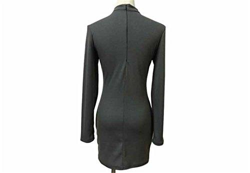 JOTHIN Frauen 2017 Außenhandel Explosion Modelle Rundhals Brust Hohlkreuzgurte Langarm-T-Shirt Hemd Grau