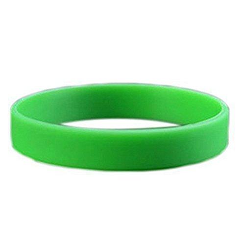 Cikuso Mode Silikon Gummi Elastizitaet Armband Handgelenk Band Manschette Armband Armreif Gruen