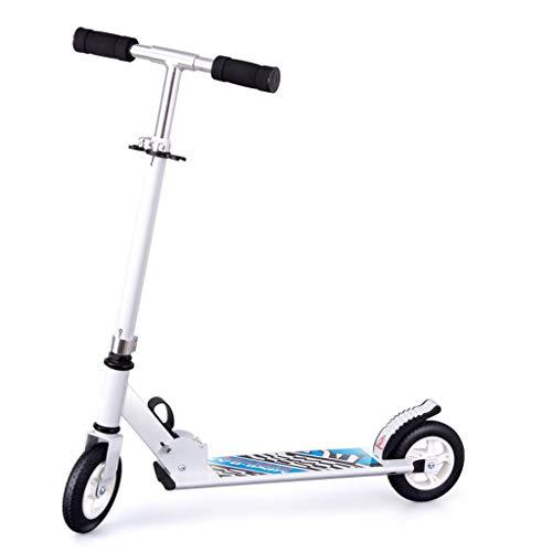Scooter für Kinder Großer Zweiradfalten Dreirad Big Boy Anfänger 3-6-12 Jahre LCSHAN (Color : White, Size : Two-Wheel) (Big Dreirad Kid)