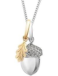 Oak Halskette mit Rhodium-Anhänger, Silber, Kette Länge 86,4cm