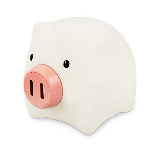 KOBWA Schwein Nachtlicht Helligkeit und Farbe einstellbar Silikon LED-Nachtlicht für die Krankenpflege, 2019 Pig Year USB Wiederaufladbares Timing-Nachtlicht Wohnkultur Lampe -