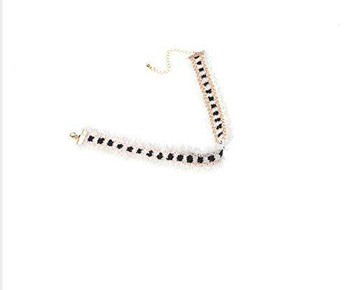 te Mode Schmuck Einfaches Zubehör Böhmischen Gewebte Blumen Ribbon Collier Halskette Charme Quaste Tattoo Halskette ()