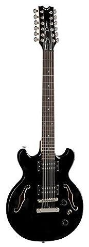 Dean Guitars BOCA12 CBK 12 String Semi Hollow Body Electric Guitar Classic - Black