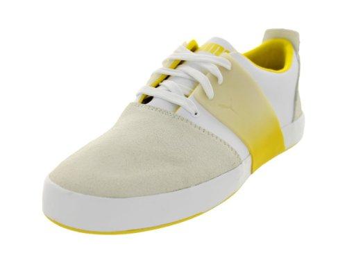 Puma - - Herren 3 El Ace Lo Dip Dye Schuhe, EUR: 39, White/Vibrant Yellow (Dip Dye Schuhe)