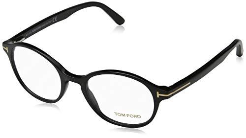 Tom Ford Herren Ft5428 Brillengestelle, Schwarz (NERO LUCIDO), 49