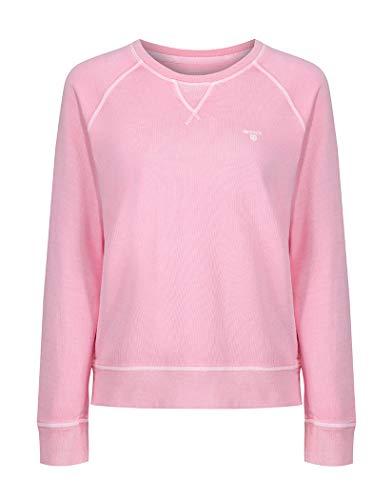 GANT Damen Sweatshirt Sunbleached Crewneck, Rosa (California Pink), 38 (Herstellergröße: Medium) Crewneck Damen-sweatshirt