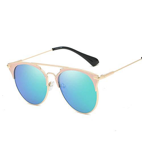 RMJCZQX Sonnenbrille Mode Menschen Sonnenbrille männer und Frauen allgemeine Sonnenbrille Outdoor uv400 Sonnenbrille (blau-grün)