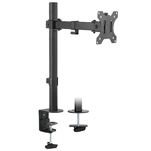 """RICOO Universal Monitor Halterung TS2611 Schwenkbar Neigbar Bildschirm Monitorhalterung Tischhalterung LCD LED TFT Curved 4K Bildschirmhalterung VESA 75x75 100x100 33-76cm 13""""-30"""" Zoll Schwarz"""