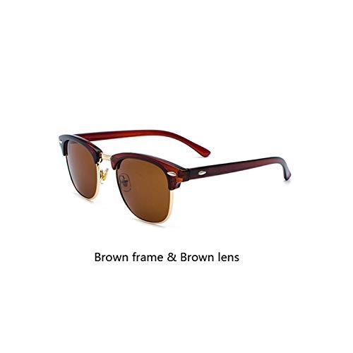 Sport-Sonnenbrillen, Vintage Sonnenbrillen, Classic Brand Polarisiert Sunglasses Men Women Half Metal Spiegel Unisex Sun Glasses Gafas De Sol UV400 CC0832 C12