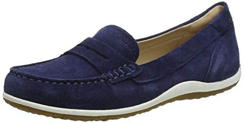 Geox Damen D Vega MOC A Mokassin, Blau (Blue C4000), 41 EU 10 Moc