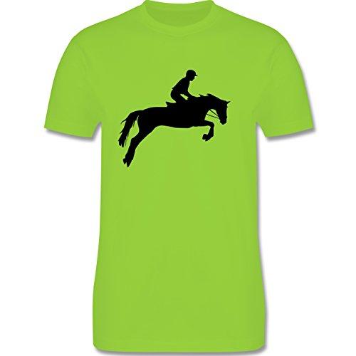 Reitsport - Springreiten - Herren Premium T-Shirt Hellgrün