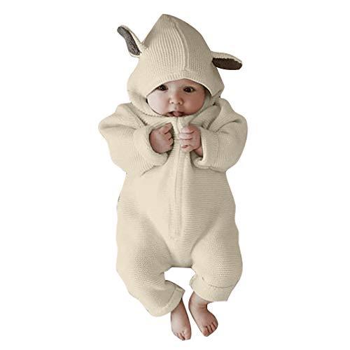 Mxssi Neugeborenen Kleidung Overall Infant Kostüm Baby Outfit Cute Rabbit Ear Mit Kapuze Baby Strampler Für Babys Jungen Mädchen Kleidung (Cute Baby Kostüm)