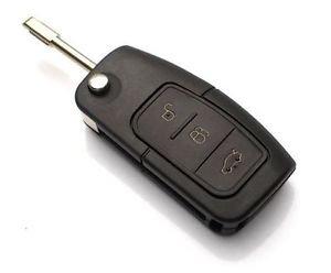 FordKS06 - 3 Tasten Ersatz Schlüsselgehäuse Auto Schlüssel Klappschlüssel Fernbedienung Funkschlüssel GehäuseJurmann Trade GmbH® (für Ford (KS06))
