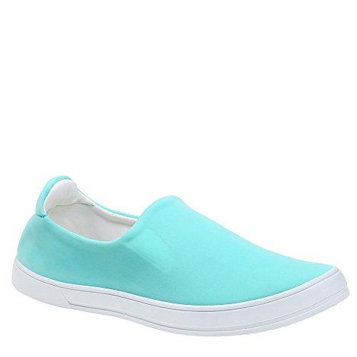 Ideal Shoes Slip-On en Néoprène Kaina Turquoise