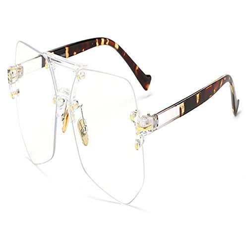 XCYQ Brillengestell Randlose Brille Für Männer Unregelmäßige Transparente Brille Für...