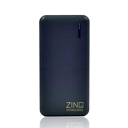 Zinq Technologies Z20KP 20000mAH Lithium Polymer Power Bank (Qualcomm Certified) with QC 3.0 + Type C PD Technology (Black)