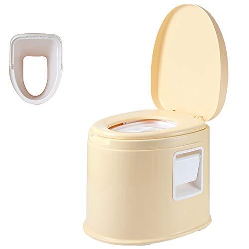 Zhao Li Toilettenstuhl Sitz, Mobile Toilette for ältere Menschen, hockender Stuhl Home Indoor Portable Simple Squat Stool (Color : Beige, Size : Solid Bucket) (Portable Toiletten Für ältere Menschen)
