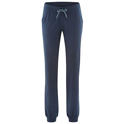 Living Crafts Damen Relax Hose Bio-Baumwolle/Elasthan, Night Blue, Gr. M (Damen-bio-baumwoll-jersey)