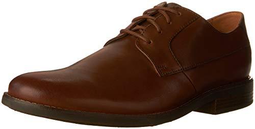 Clarks Herren Becken Plain Derbys, Braun (Tan Leather), 43 EU (Von Schuhe Clark)