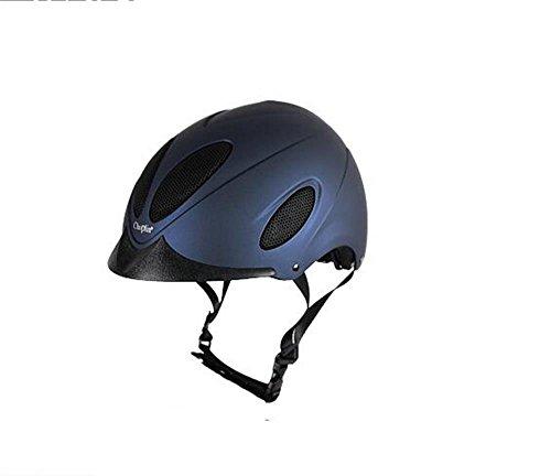 apparecchiature di ventilazione traspirante cappello cavallo Hawkeye equestre casco di guida per gli uomini e le donne lo stesso paragrafo ( colore : Profondo blu , dimensioni : 55cm )