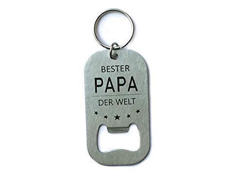 Papa Geschenkideen I Bester Papa der Welt Schlüsselanhänger I Geschenke für Papa Geburtstag