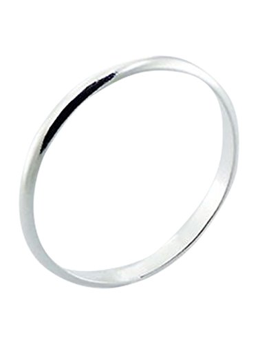 Sterling Silver 2mm Band Ring In Sizes G-Z (S)