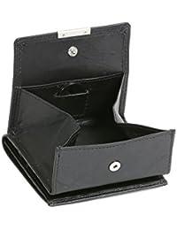 Modèle VIENNE portemonnaie particulier en cuir de vachette, fabrication façon « viennoise », avec compartiment pour la monnaie carré typique LEAS, noir - ''LEAS Special Edition''