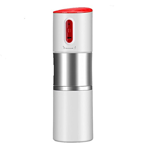 WEDEHANGE Portable Mini Coffee Machine Rechargeable Grinding Coffee Cup Household Automatic Grinding Machine Small Electric Grinding Machine,Red