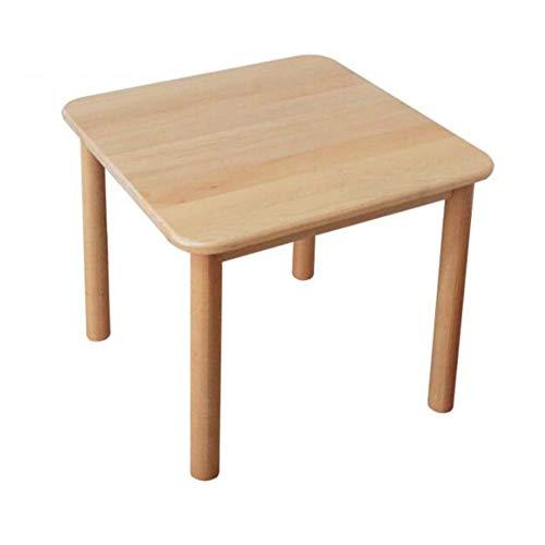 Tische CJC Tabelle Buche Hartholz Aktivität Abspielen, Solide Holz Kinder Schreibtisch, Spielzimmer Tagespflege Vorschule Natürlich Finish (Farbe : Holzfarbe)