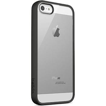 Belkin - Coque Bimatière avec Contour en TPU Noir et dos en Polycarbonate Transparent pour iPhone 5/5S/SE