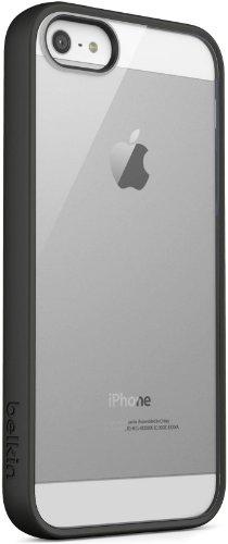 Belkin Candy Case TPU/Acryl-Schutzhülle (geeignet für iPhone 5/5s), schwarz/durchsichtig