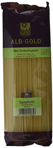 Alb-Gold Dinkel-Spaghetti, 5er Pack (5 x 500 g Packung) - Bio